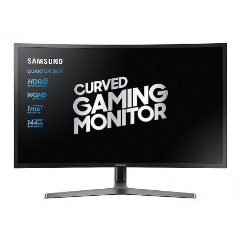 "PRO GAMING MONITOR 27"" SAMSUNG LC27HG70QQUXEN LED CURVO 2K HDR 144 HZ 1MS HUB USB HDMI REFURBISHED BASE A DOPPIA CERNIERA"