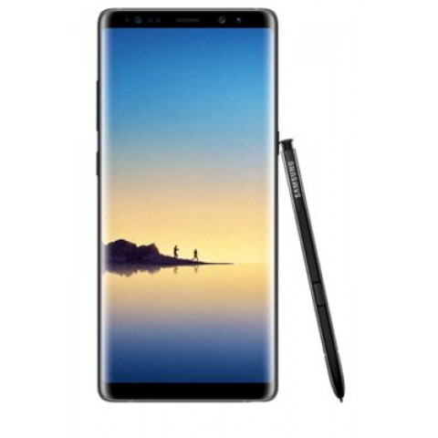"SMARTPHONE SAMSUNG GALAXY NOTE 8 DUAL SIM SM N950F 6.3"" DUAL EDGE SUPER AMOLED 64 GB OCTA CORE 4G LTE WIFI 12 MP + 12 MP ANDROID REFURBISHED MIDNIGHT BLACK"