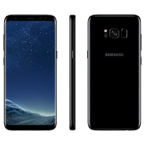 """SMARTPHONE SAMSUNG GALAXY S8 SM G950F 64 GB 4G LTE WIFI 12 MP DUAL PIXEL OCTA CORE 5.8"""" QUAD HD+ SUPER AMOLED REFURBISHED MIDNIGHT BLACK"""